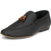 TIE THE LACES Men's Black Casual Shoes