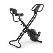 Capital Sports Azura X2 Vélo en X pliable avec dossier pulsomètre- noir