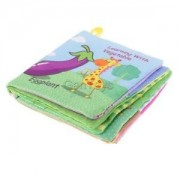 Alcoa Prime Cloth Book Infant Baby Cognize Books Vegetables Intelligence Development Toy