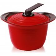 Olla Roichen Con Asas De Silicona 26 Cm Rojo Premium