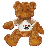 I Love/Heart Cavalier King Charles Spaniel Plush Teddy Bear with WHITE T-Shirt
