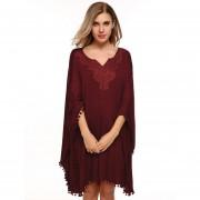 Vestido Casual Yucheer Rojo Vino