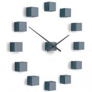 Ceas de design Future Time FT3000GY Cubic grey, autoadeziv, diam. 50 cm