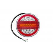 Runde LED-Rückleuchte 12-24V mit 4 Funktionen