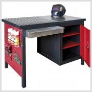 Pracovný stôl za zváranie a brúsenie 120 x 85 x 60 cm s odnímateľným roštom