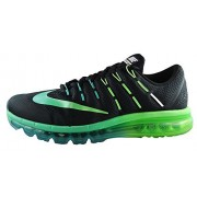 Nike Men's Air Max 2016 Running Shoe (Sz. 11) Black, Midnight Turquoise