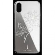 Les Fréres Silver Flower iPhone Case