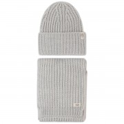 Комплект шал и шапка UGG - K Rab Kint Hat And Scarf Set 18874 Light Grey