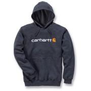 Carhartt Signature Logo Midweight Hoodie Grå 2XL