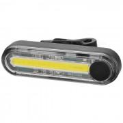 Mini USB portatil recargable 15-LED 3-modo luz blanca de la cola luz de la bici