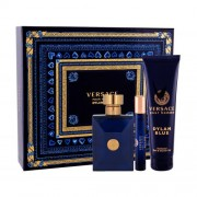 Versace Pour Homme Dylan Blue подаръчен комплект EDT 100 ml + EDT 10 ml + душ гел 150 ml за мъже