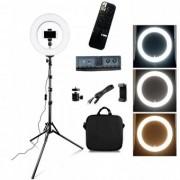 Lampa Circulara cu telecomanda , Selfie Telefon, Ring Light 18inch - 55W 511Leduri