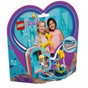 Конструктор Лего Френдс - Лятната кутия с форма на сърце на Stephanie - LEGO Friends, 41386