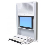 Ergotron StyleView Sit-Stand Enclosure Wall-mounted CPU holder White