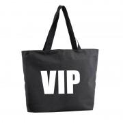 Bellatio Decorations VIP shopper tas zwart 47 cm