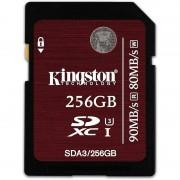 Kingston 256GB SDXC UHS-I Speed Class 3 90MB/s read 80MB/s write