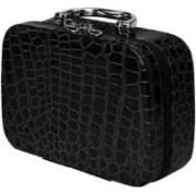 Dholakiya Box with Magnifying Compact Mirror Makeup, Jewellery Travel Toiletry Kit Travel Toiletry Kit(Black)
