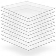 vidaXL Прозрачни акрилни плоскости, 10 бр, 40x60 см, 4 мм
