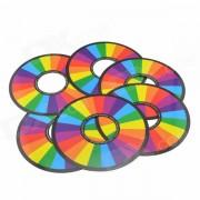 Magia truco Rainbow anillos - rojo + amarillo (6 piezas)
