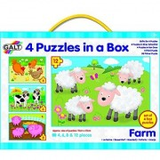 Galt Toys Inc Farm in a Box Puzzle 4-Piece