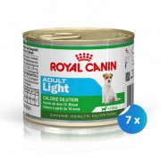 Pachet Royal Canin Mini Adult Light 7 x 195 g