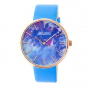 Crayo Swirl Strap Watch - Rose Gold/Powdered Blue CRACR4204