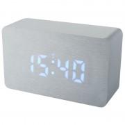Statie meteo Bresser MyTime W RC, termometru, alarma, LED albastru, Argintiu