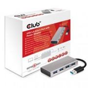 CLUB3D USB 3.0 4 PORT ALUMINIUM CASING