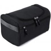 Simxen Hanging Fabric Travel Cosmetic Toiletry Bag Organizer and Dopp Kit Travel Toiletry Kit(Black)
