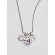 Uta Raasch Dames Ketting met kristallen van Swarovski® Van Uta Raasch zilverkleur