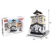 Generic Mini City Street Store Figure Building Blocks Bank Shop Hotel Opera ewspaper Office Building Block Bricks Toys for Children Tax Bureau