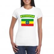 Shoppartners Ethiopische vlag shirt wit dames