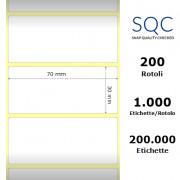 Etichette SQC - Carta termica protetta (bobina), formato 70 x 30