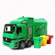 Kawo Children Garbage Truck Sanitation Trucks Toy Car Model With Trashcan
