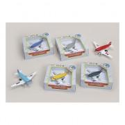 Speelgoed vliegtuig blauw 15 cm