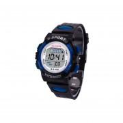 Reloj HONHX Impermeable Digital LED Deportes Fecha De Alarma Niños-azul