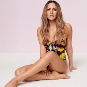 River Island Womens Caroline Flack Purple floral swimsuit (10)