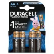 Baterii Duracell alcaline Turbo Max AA R6 1.5V 4 bucati blister