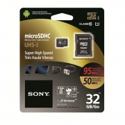 Micro SD Card, 32GB, Sony, Class 10, 1xAdapter, UHS-1 (SR32UXA)