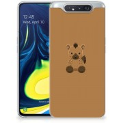 Samsung Galaxy A80 Telefoonhoesje met Naam Baby Hyena