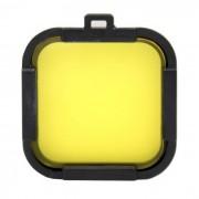 Lente de filtro de la cubierta del protector de la lente de 35m m para Gopro heroe 4 sesion - amarillo