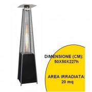 Stufa aerea per esterno a gas Butano in acciaio - Mod. Piramide
