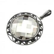 Wisiorek srebro Swarovski W 980 : Kolor - Silver Shade