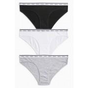 Next Logo Bikini Briefs Four Pack - Monochrome