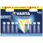Baterie alcalina R3 AAA 8 buc/blister VARTA