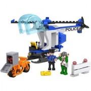 Emob 164 Pcs Classic City Helicopter Building Bricks Block Set Toy with Mini Figures (Multicolor)