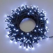 Luci Da Esterno Catena 53 m, 750 Mini LED colore Bianco freddo, cavo Verde, da esterno, non prolungabile