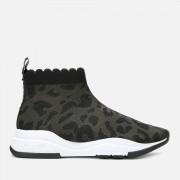 Ted Baker Women's Waverli Leopard Knitted Sock Trainers - Black - UK 3 - Black
