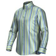 Maatoverhemd blauw/groen/wit 54431