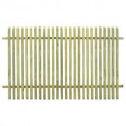 vidaXL Gard pentru grădină, lemn de pin tratat FSC, 170 x 100 cm